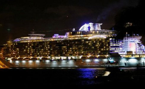 Oasis of the Seas night